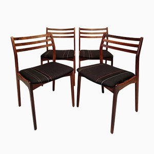 Palisander Stühle von Vestervig Eriksen für Brdr. Tromborg, 1960er, 4er Set