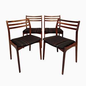 Rosewood Chairs by Vestervig Eriksen for Brdr. Tromborg, 1960s, Set of 4