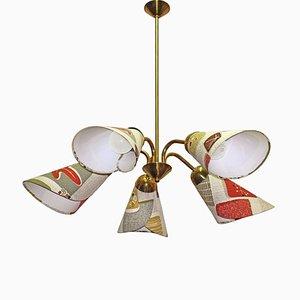 German Brass Hanging Lamp, 1950s