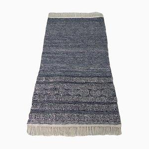 Gray Flat Weave Wool Kilim Rug