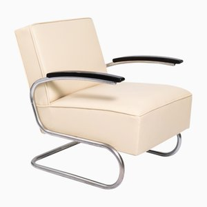 Bauhaus Cantilever Steel Pipe Chrome Plated Chair, 1930s