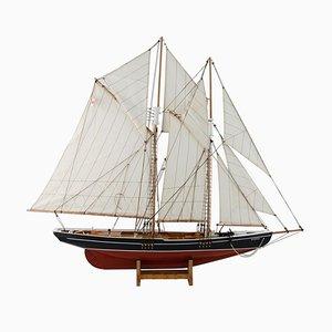 Wood Model of Bluenose Sailing Boat