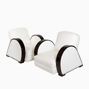 Art Deco Style Club Chairs, 1970s, Set of 2