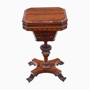 Victorian Rosewood Gothic Sewing Table, 1860s