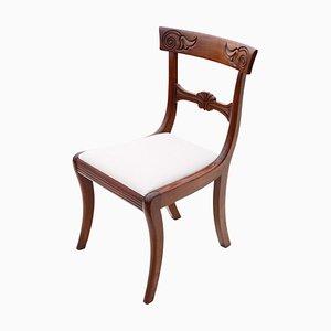 Regency Cuban Mahogany Dining Chair, 19th-Century