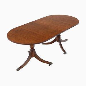 Mahogany Extending Pedestal Dining Table