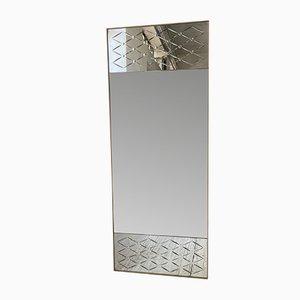 Gravierter italienischer Spiegel, 1960er