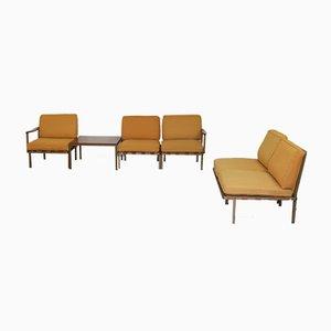 Sedie P24 e tavolino da caffè T68 di Osvaldo Borsani per Tecno, set di 6