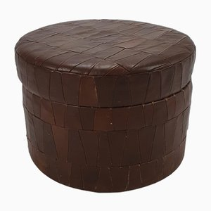 Leather Patchwork Storage Pouf from de Sede, 1970