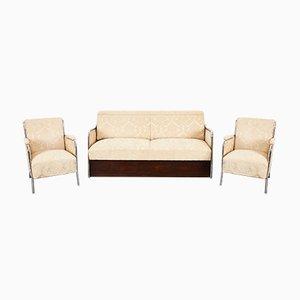 Mid-Century Art Deco Bauhaus Living Room Set by József Peresztegi