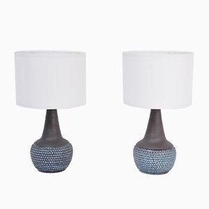 Mid-Century Danish Handmade Stoneware Lamps from Søholm, Set of 2