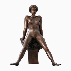 Bronze Figure of Nude Dancer by Arno Breker for Venturi Arte, 1977