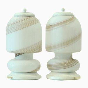 Desk Lamps in Murano Glass, 1960s, Set of 2