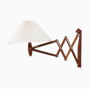 Lampada da parete Sax in teak di Erik Hansen per Le Klint, Danimarca