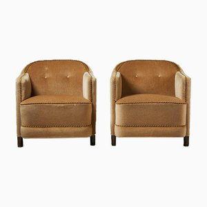 Model 217 Continent Easy Chairs from Asko, Finland, 1930s, Set of 2