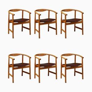 JH 203 Dining Chairs by Hans Wegner for Johannes Hansen, Denmark, 1969, Set of 6