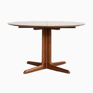 Tavolo da pranzo rotondo Mid-Century in teak con 2 estensioni di Dyrlund
