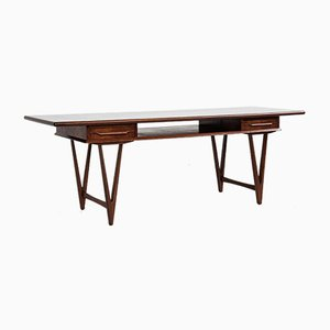 Mid-Century Danish Coffee Table in Rosewood by EW Bach for Toften, 1960s
