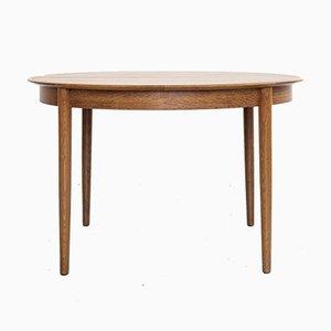 Mid-Century Danish Round Dining Table in Oak from Skovby Møbelfabrik, 1960s