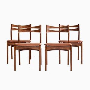 Mid-Century Danish Dining Chairs in Teak by Christian Linneberg, 1960s, Set of 4