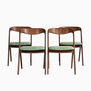 Dänische Mid-Century Stühle aus Teak von Vamo, 1960er, 4er Set