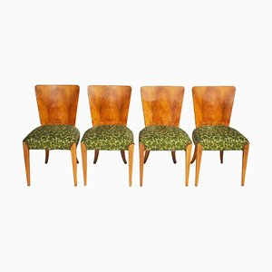 Art Deco H-214 Dining Chairs by Jindrich Halabala for UP Závody, Set of 4