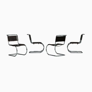 Bauhaus Brown Leather MR10 Cantilever Chair from Thonet