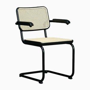 Bauhaus Black S64 V Cantilever Chair by Breuer for Thonet