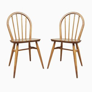 Mid-Century Danish Style Elm Dining Chairs from Ercol, Set of 2