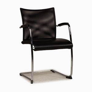 Leather Chair in Black Mesh from Züco