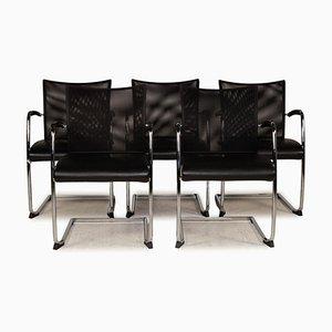 Leder Stühle aus Schwarzem Mesh von Züco, 5er Set