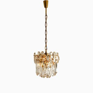 Palazzo Wall Light in Gilt Brass and Glass by J. T. Kalmar, 1970s