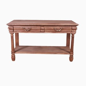 French Bleached Oak Console Table