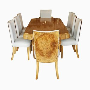 Art Deco 8-Person Dining Suite, Set of 9