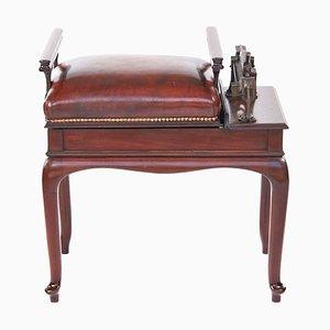 Antique Edwardian Mahogany and Leather Jockey Scales