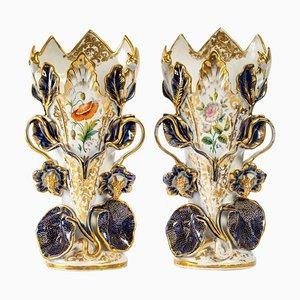 Large Valentine Porcelain Vases, Set of 2