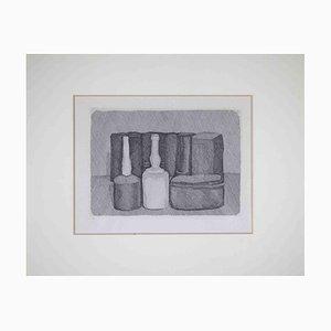 Giorgio Morandi, Bodegón con nueve objetos, Grabado original, 1954