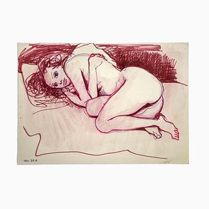 Leo Guida, Crouched Nude, Original Artwork, 1970s