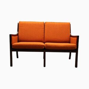 Sofa mit Mahagonigestell von Ole Wanscher für P. Jeppesen