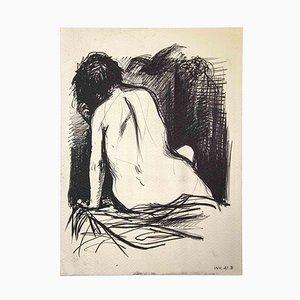 Leo Guida, Akt von hinten, Original Zeichnung, 1980er