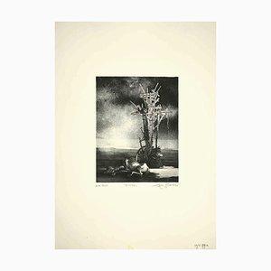 Leo Guida, Dürre, Original Radierung, 1970er