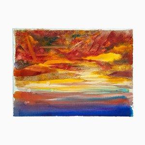 Leo Guida, The Sunset, Original Watercolor, 1970s