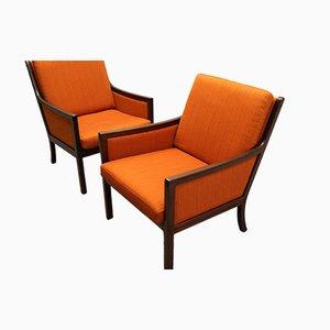 Mahagoni Lounge Sessel von Ole Wanscher für P. Jeppesen