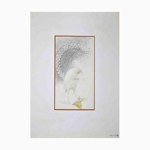 Disegno di Leo Guida, The Butterfly Killer, anni '70