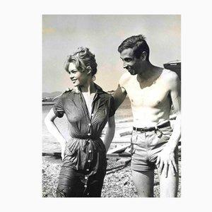 Fotografia vintage di Antonio Pantano, Brigitte Bardot e Roger Vadim, anni '60