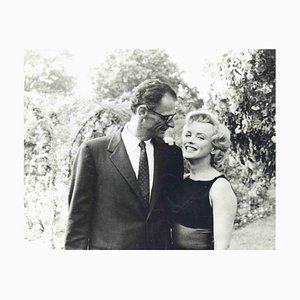 Fotografia vintage di Robert Haswell, Marilyn Monroe e Arthur Miller, anni '50