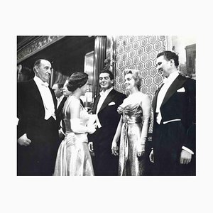Fotografia vintage di Paul Popper, Marilyn Monroe e Princess Margaret, anni '50