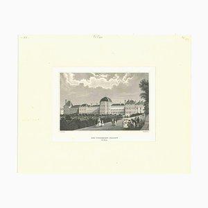 Unbekannt, Der Tuillerien-Pallast, Lithographie, Mitte 19. Jh