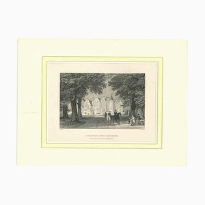 Unbekannt, Tyningame House, Haddington, Lithographie, Mitte 19. Jh
