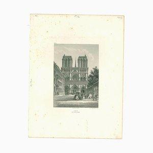 Unbekannt, Paris Notre-Dame, Lithographie, Mitte 19. Jh